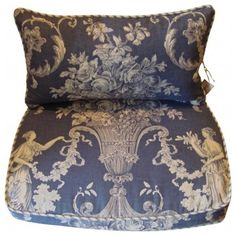 French Country Chair Pads Back Pillows