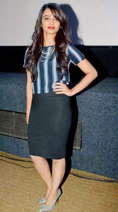 Radhika Apte at the music launch of 'Hunterrr'. #Style #Bollywood #Fashion…