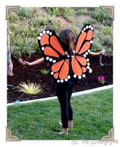 DIY Halloween DIY Costumes :DIY Animal Costume : DIY make Monarch Butterfly Wings