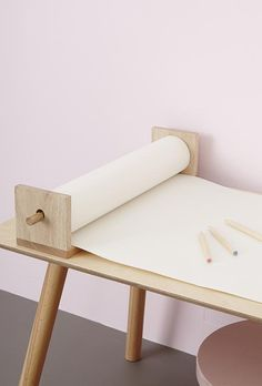 Shop Olli Ella Pollie Shelf which can be hung on the wall or sat on a table, and works with regular rolled paper as well as with Playpa! Baby Bedroom, Baby Room Decor, Baby Furniture, Furniture Design, Shelf Paper, Easy Arts And Crafts, Crafty Kids, Wood Toys, Wooden Shelves
