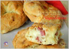 Panini Napoletani, Pagnottelli, panini soffici con ripieno di salumi e formaggi. Ricetta finger food ideale per un picnic, buffet. Ricetta facile