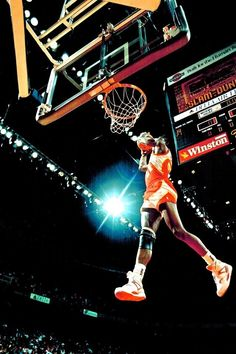 We are home to the Atlanta Hawks NBA team! Here's former Hawk Dominique Wilkins in a NBA Slam Dunk Contest.