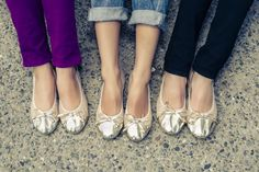 229b8acd185 All that glitters is gold - just like the foldable ballet flats from Talaria  Flats!