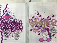 School Notebooks, Cute Wallpapers, Origami, Diy And Crafts, Banner, Doodles, Bullet Journal, Lettering, Drawings