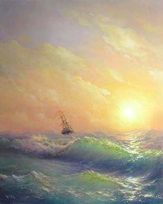 36 Storm 8x 10 original canvas giclee por vladimirmesheryakov