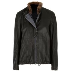 Hirshleifers - Brunello Cucinelli - Soft Leather Jacket with Detachable Fur Collar (Forest), $3,276.00 (http://www.hirshleifers.com/new-arrivals/brunello-cucinelli-soft-leather-jacket-with-detachable-fur-collar-forest/)