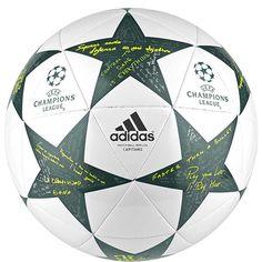 adidas Finale 16 Capitano Ball White/Vapor Steel/Tech Green