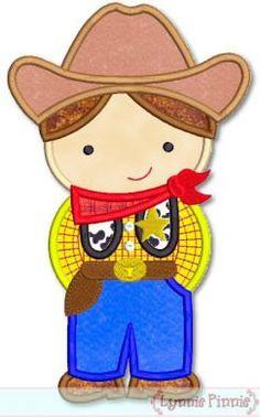 Little Cutie COWBOY SHERIFF  Applique 4x4 5x7 6x10 by LynniePinnie, $2.99