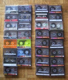 31 Stück Audio-Kassetten C90 / C60 Normal, bespielt, TDK, BASF, Maxell u.a.