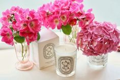 Dyptique candle and gardenias