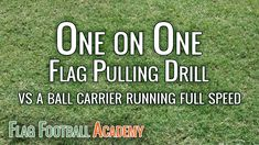 Youth Flag Football Defense Drill - One on One Flag Pulling Flag Football For Kids, Football Drills For Kids, Flag Football Plays, Football Defense, Throwing A Football, Football Training Drills, Notre Dame Football, American Football, Football Stuff