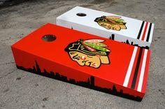 Chicago Blackhawks Custom Cornhole Bag set