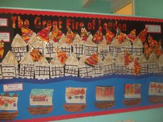 A super The Great Fire of London classroom display photo contribution. Great ideas for your classroom! Great Fire Of London, The Great Fire, Year 1 Classroom, Classroom Ideas, Book Area, Home Learning, Classroom Displays, London Art, Photo Displays