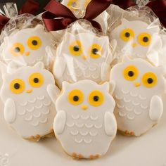 Hedwig the Owl Sugar Cookie Favors from Harry Potter by TSCookies