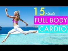 15 Minute Full Body Cardio Workout - CALORIE BLAST | Rebecca Louise - YouTube