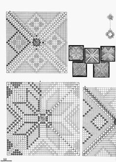 crochet motifs squares for blanket Magic Crochet nº 17 - leila tk Image gallery – Page 357543657889819081 – Artofit Crochet Square Patterns, Crochet Motifs, Crochet Diagram, Crochet Chart, Crochet Squares, Crochet Doilies, Stitch Patterns, Crochet Blocks, Crochet Granny