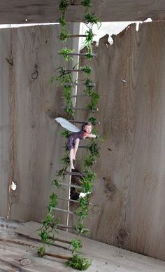 Fairy Ladder Handcrafted by Olive Fairy by OliveNatureFolklore