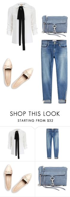 """""""A Causal Shirt"""" by lilysilk ❤ liked on Polyvore featuring Michael Kors, Frame, Rebecca Minkoff, StreetStyle, casual and women"""