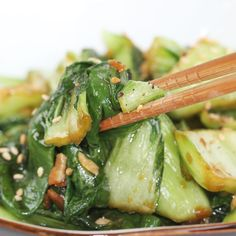 Sautéed Ginger Bok Choy Recipe – Stir-Fried Chinese Green Cabbage. Different oil.