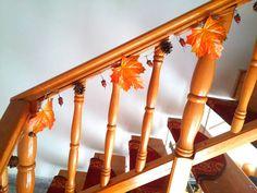 Fall staircase garland