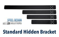 We at Steel Design Solutions are proud to announce that our newest countertop bracket — the Standard Hidden Bracket — is now available.