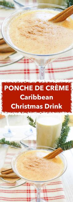 Ponche De Crème is the drink to celebrate Christmas in true Caribbean style. Easy rum, milk & egg cocktail recipe ready in minutes. Real Food Recipes, Great Recipes, Yummy Food, Favorite Recipes, Healthy Recipes, Drinks Alcohol Recipes, Cocktail Recipes, Drink Recipes, Holiday Treats