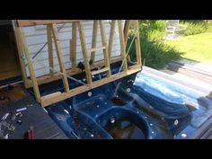 Bifold deck spa cover 12v winch - YouTube