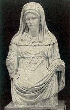 Statue of Vestal Virgin -- Hestia, Goddess of Meditative Wisdom in Mature Women