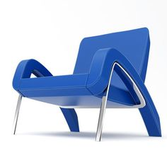 Add this item to your registry on registrylove.com - The Retro Car-Inspired Oxoye Chair by Dzmitry Samal's Swooping Fender Furniture