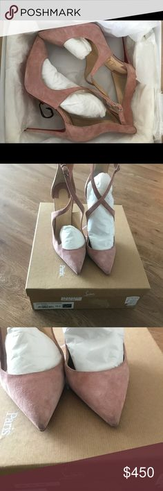 Christian Louboutin marlenarock 100 100% authentic Christian louboutin heels. Worn once for a very short time. Great condition. Replacement heels and original box Christian Louboutin Shoes Heels