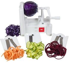 Paderno World Cuisine Vegetable Slicer / Spiralizer, Counter-Mounted and includes 3 S. : Paderno World Cuisine Vegetable Slicer / Spiralizer, Counter-Mounted and includes 3 Stainless Steel Blades Spiral Vegetable Slicer, Vegetable Spiralizer, Veggie Spiral, Mandoline, Thing 1, Best Wedding Gifts, Gift Wedding, Zucchini Noodles, Veggie Noodles