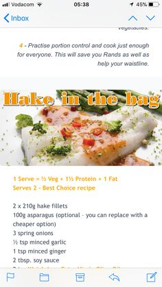 Get Healthy, Healthy Eating, Healthy Recipes, Portion Control, What You Eat, Fish Dishes, Eating Plans, Asparagus, South Africa