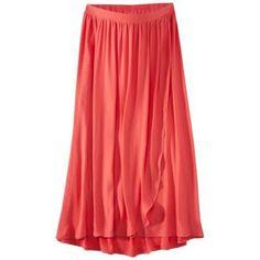 Liz Lange Maternity Bright Coral Long Maxi Skirt Nwt Size S M L Xl Xxl