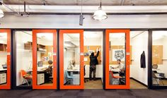 tiny offices with sliding doors - this is cool Inside Microsoft HQ (2)