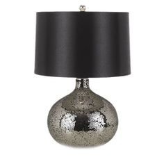 Black and Silver Glass Mirage Table Lamp - perfect for a foyer, powder room or master suite!  Very chic!