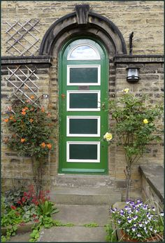 Old door, saltaire, England