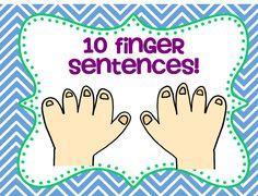 10 Finger Sentences: a Speaking Activity