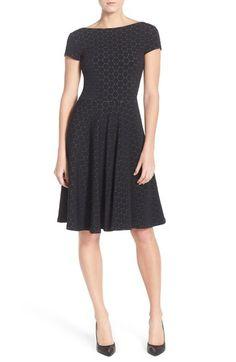 Leota Circle Jacquard Woven Jersey Dress - Made in the USA professional dress