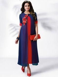 Nitya Red Designer Kurti
