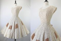 Vintage 50s Dress Party Full Skirt Illusion & by swingkatsvintage, $225.00