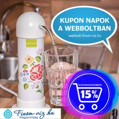 Rendelj most a víztisztító kupon napokon még nagyszerűbb áron 2 éven át (utána töredék áron töltetcsere ingyenes csomagfelvétellel) mindig finom, egészséges és biztonságos enyhén lúgos strukturált vizet előállító népszerű víztisztítót és hagyj fel az ásványvizek állandó cipekedésével egy életre, élvezd cipekedéstől mentesen a finom élő ivóvizet Nutribullet, Kitchen Appliances, Diy Kitchen Appliances, Home Appliances, Kitchen Gadgets