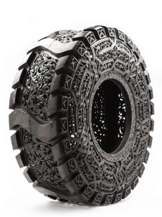 "expecttheunexpectedtoday: ""expecttheunexpectedtoday Painstakingly hand carved intricate scrollwork on used tires / Pneu (tire in French) Series / by Belgian Neo-conceptual artist Wim Delvoye o. Gothic Words, Art Actuel, Tire Art, Culture Art, Art Sculpture, Wire Sculptures, Abstract Sculpture, Abstract Art, Recycled Art"