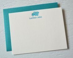 Children's custom letterpress stationery - birthday gift, thank you cards, free shipping in US