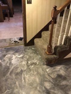 Metallic Marble Staining In Kansas City Missouri Decorative Concrete Kingdom
