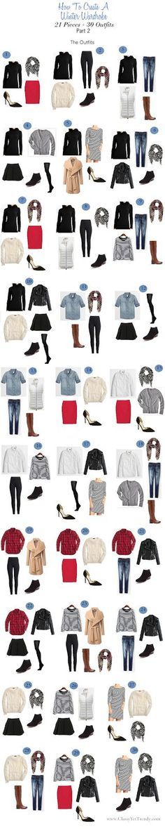 winter wardrobe 30 outfits