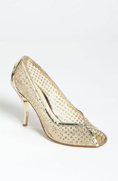 Delman 'Anika' Pump available at #Nordstrom (in gold)
