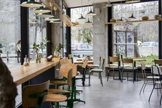 Sopa - Barcelona Cafe, cafe ideas, chairs, tables, lighting,