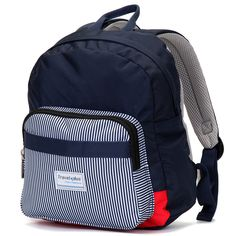 Střední dámský modrý proužkovaný batoh na výlety - Travel plus 0643.  Cestování 6fad83871d
