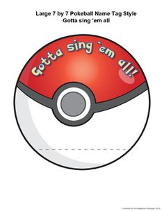 This product comes with a large 7 X 7 Pokeball name tag template that can be reproduced to have one for each student in the class or be signage around the room or in the school hallway. There are six different Pokeball phrases on 12 pages. Some phrases repeat in an alternative color.