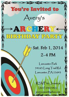 Printable Archery